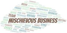 Mischievous Business Word Clou...