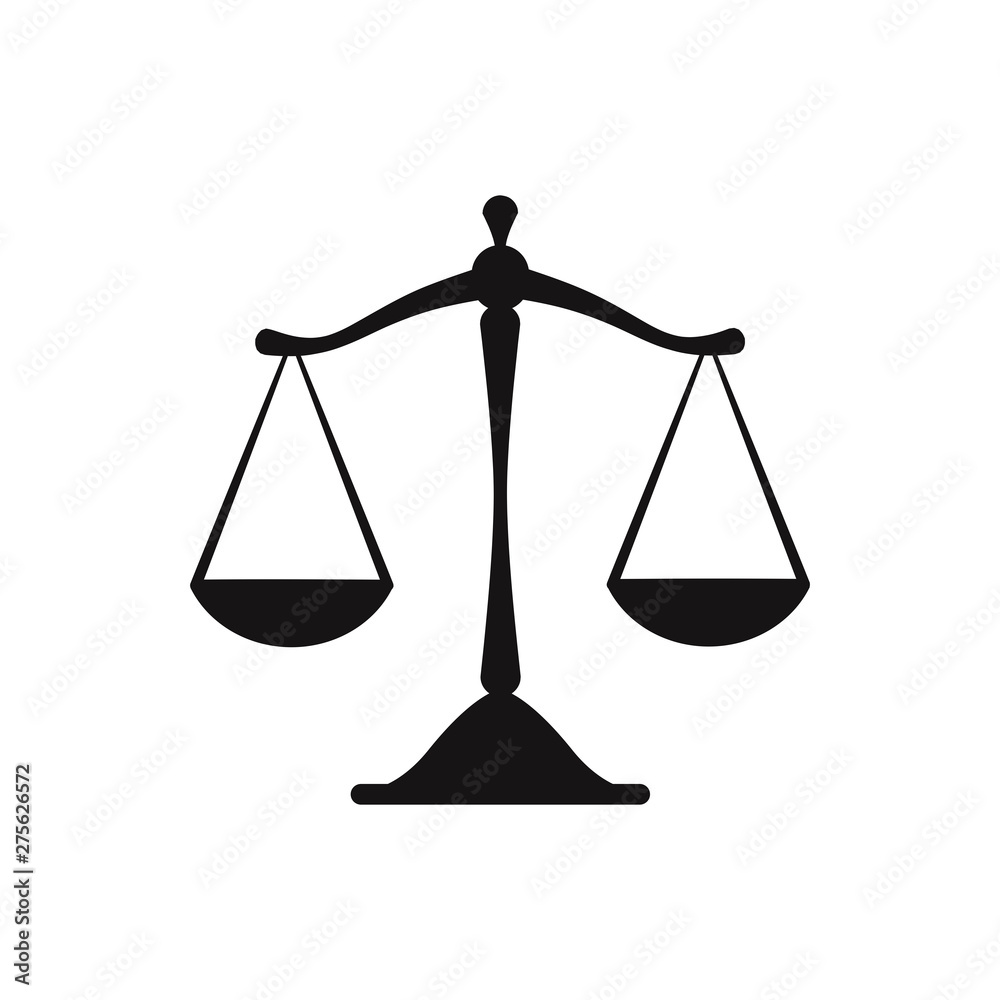 Fototapety, obrazy: Scales justice icon