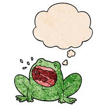 Cartoon Frog Shouting And Thou...
