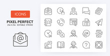 Contact And Support Line Icons...