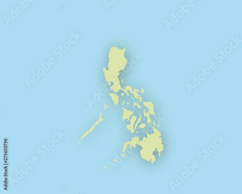 Karte Philippinen.Karte Der Philippinen Mit Schatten Buy This Stock Vector And