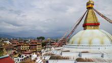 Nepal, Kathmandu. Boudhanath S...