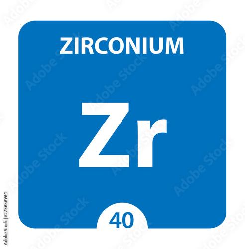 Vászonkép  Zirconium Zr chemical element