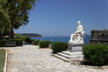 Statue, Monument, Frederick North, 1766-1827, Boschetto Park, Corfu Town, Unesco World Heritage Site, Corfu Or Kerkyra Island, Ionian Islands, Greece, Europe