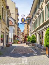 Vista De Rua Em Vevey Montreux Suiça