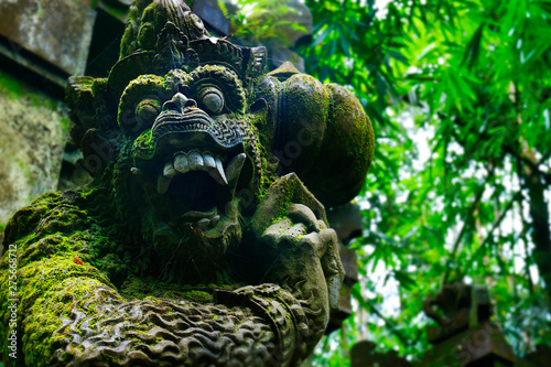 Stampa su Tela Stone carved statue of Barong in hindu temple in Bali-Indonesia
