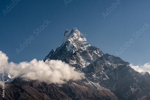 Nepal, Annapurna. Mardi Himal trek, mount Machepuchare Wallpaper Mural