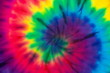 canvas print picture Tie Dye spiral rainbow color , abstract texture and background , reggae style .