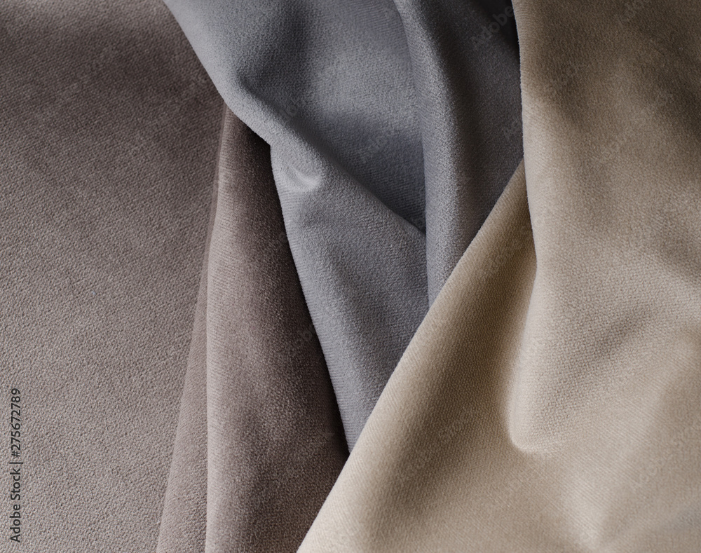 Fototapety, obrazy: Light colors velour textile samples.. Fabric texture background