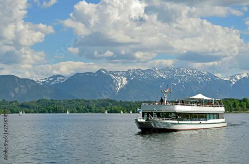 Photo Dampfer auf dem Staffelsee bei Uffing