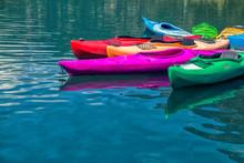 Kayak School In A Lake In The Pyrenees Of Spain