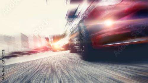 Photo  Speed car lighting