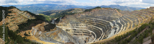 Panorama of big open quarry Slika na platnu