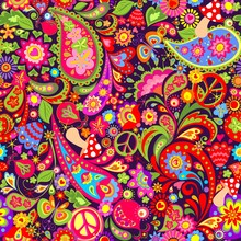 Hippie Vivid Colorful Wallpape...
