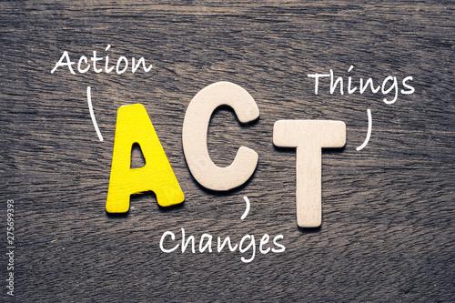 Carta da parati ACT Wood Letters Acronym