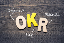 OKR Wood Letters Acronym