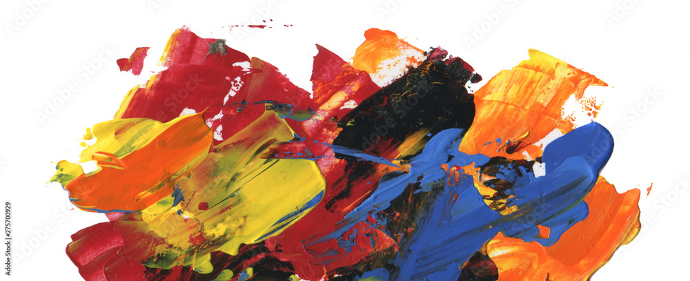 Fototapety, obrazy: Abstract acrylic and watercolor painting. Color texture background.