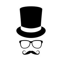 Vintage Gentleman Face Vector Icon