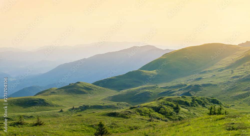 Fototapety, obrazy: View of the hills of the Jahorina mountain.