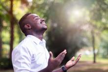 African Man Praying For Thank ...