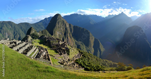 Panoramic View of Machu Picchu (Giant Picture) (Combined and Merged Images) (Peru)