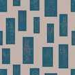 Vector grey rectangle anthromorphic characters repeat pattern background