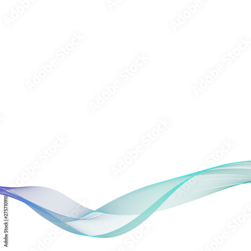 Vector abstract wave on white background. Watering, freshness. Association with the sea, the ocean, rest. A beautiful modern background for advertising, presentation, design of magazines, newspapers. #275710910