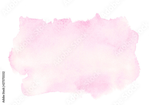 light romantic delicate pink background painted with watercolor on white paper