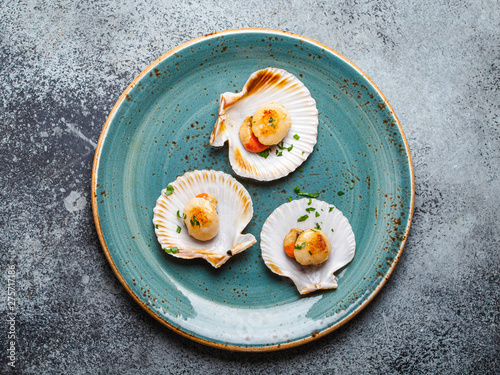Fotografie, Obraz Tasty grilled scallops