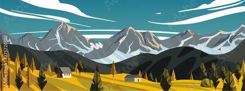 Obraz na plátně New Zealand landscape