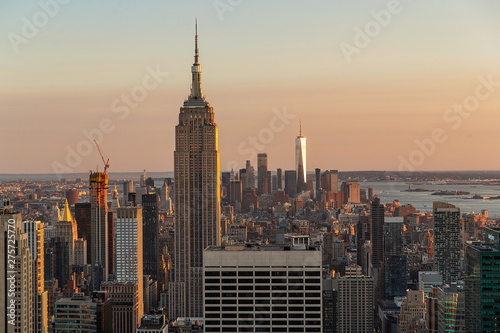 Poster New York General view of Manhattan, New York city
