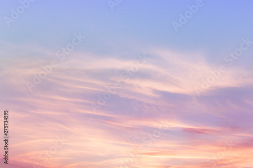 Valokuva  Soft cloudy is gradient pastel,Abstract sky background in sweet color