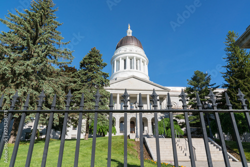 Exterior of the Maine Capitol Building in Augusta, Maine Wallpaper Mural