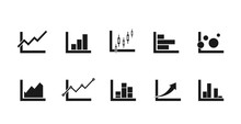 Chart Icons Set For Infographi...