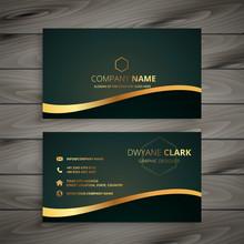 Golden Company Business Card D...