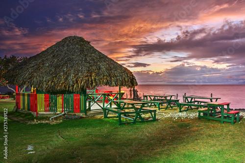 Fotografie, Obraz Jamaican sunset - 3 Dives Point, Negril, Jamaica