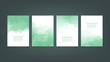 Green watercolor Brochure template for you design,vector.