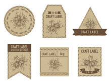 Craft Labels With Black Caraway