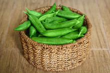 The Crop Of Peas Lies In A Rou...