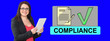 canvas print picture - Concept of compliance