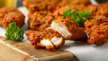Breaded Chicken Strips With Be...