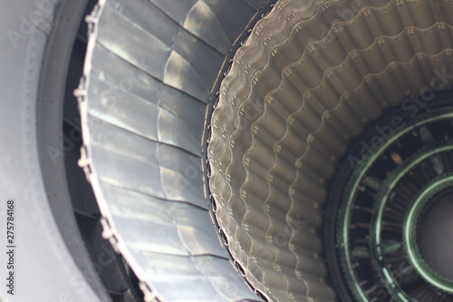 Fototapety, obrazy: Avia nozzle. Military jet engine with a variable thrust direction.