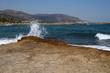 Wellen am Strand von Malia