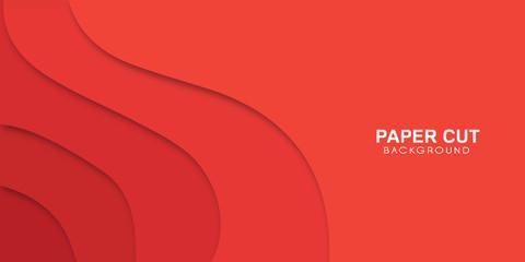 Streszczenie tło wektor - nowoczesna koncepcja w stylu czerwonego papieru sztuki, banner.