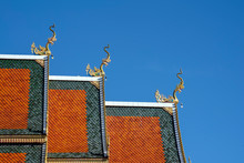 Rooftop And Finials On Prayer Hall At Wat Sri Bun Rueang, Chiang Rai, Thailand