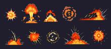 Cartoon Explosion. Exploding B...