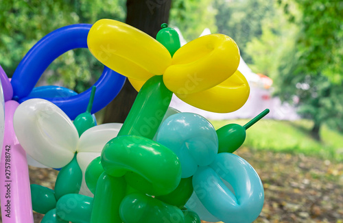 Valokuvatapetti Balloons for twisting and modeling various figures