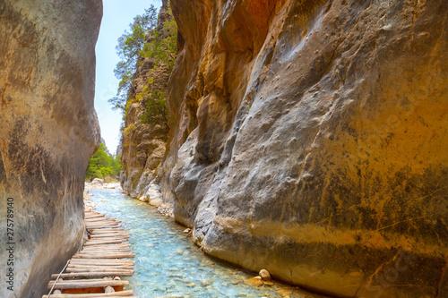 Obraz na plátne Passage of famous Samaria Gorge, Crete, Greece