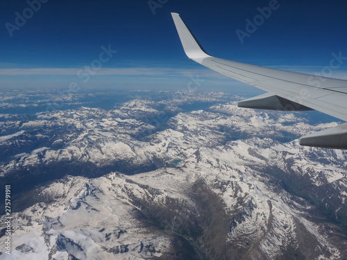 aerial view of Alps mountain Canvas-taulu