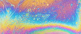Fototapeta Rainbow - Colorful oil slick art abstract background backdrop rainbow photo texture design